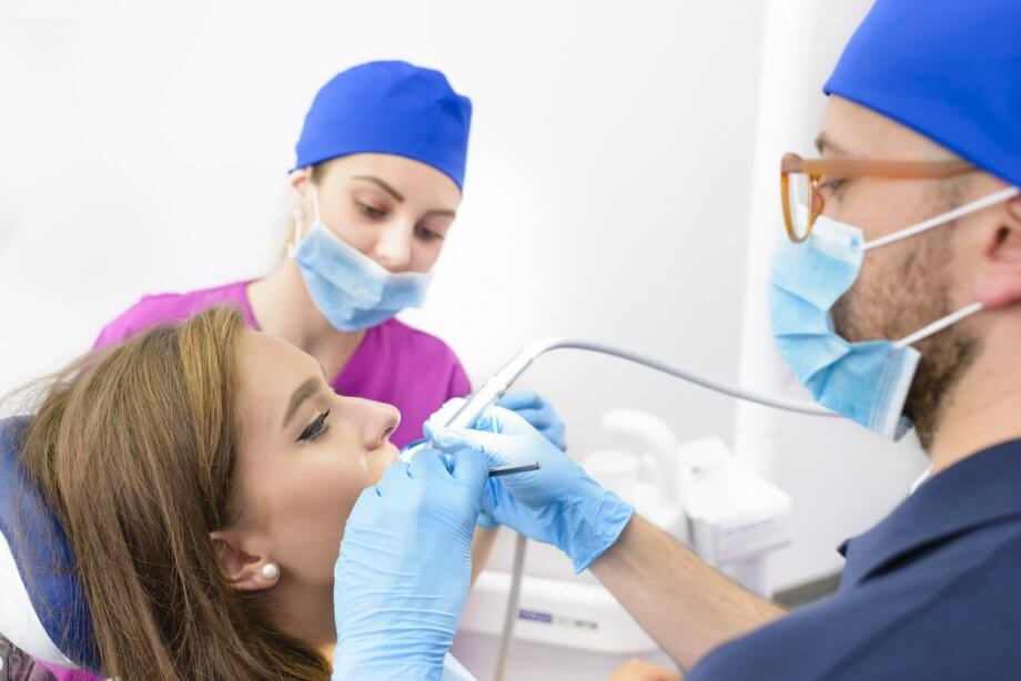 Woman Getting Root Canal